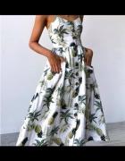 Sukienka letnia z ananasowym motywem