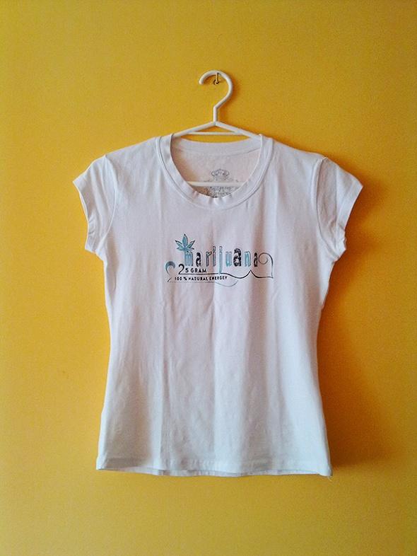 Koszulka biała z nadrukiem