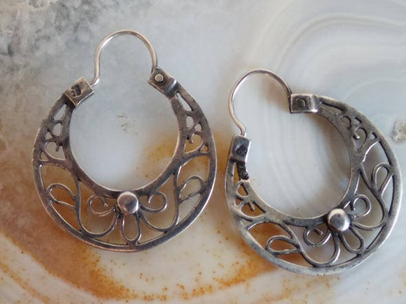 Stare srebrne kolczyki Warmet