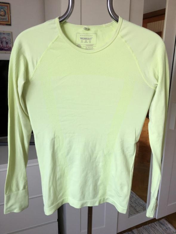 Limonkowa bluzka sportowa Atmosphere Workout rozm S