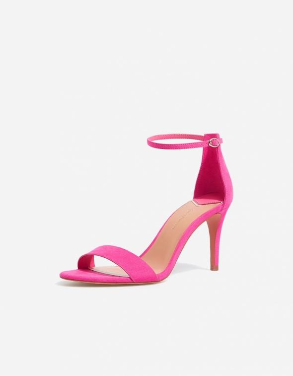 Sandały szpilki neonowe róż Stradivarius sylwester