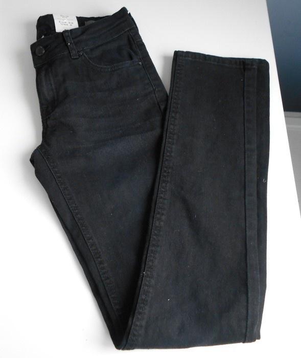 Mango jeansy czarne rurki grafitowe Alice nowe