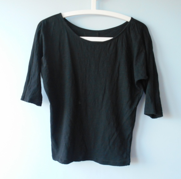 Reserved czarna bluzka nietoperz oversize minimal