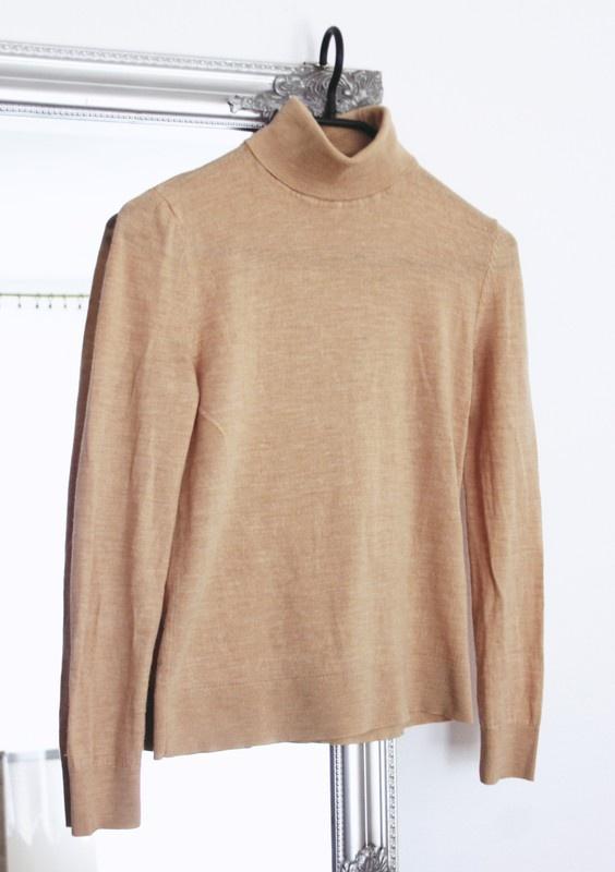 Sweter z golfem wełniany H&M