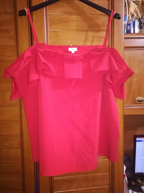 River Island przepiękna bluzka czerwień 44