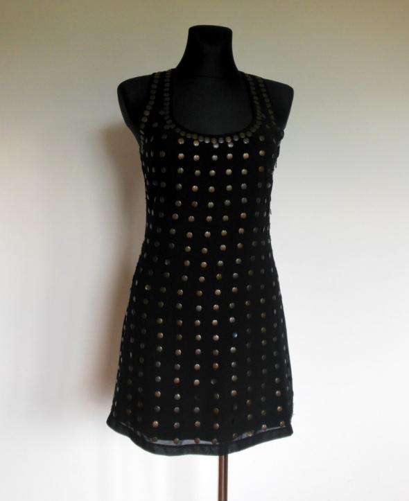 Lipsy sukienka mini mała czarna 38