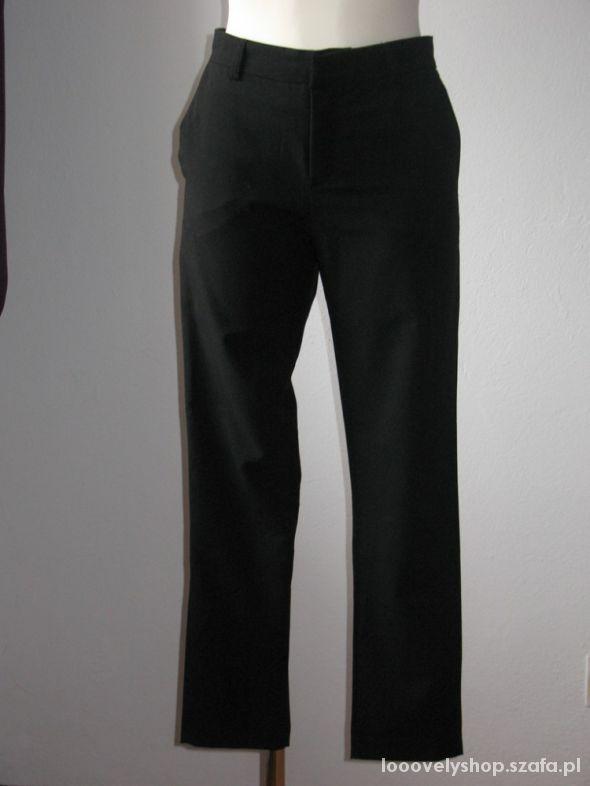 Nowe czarne proste spodnie cygaretki