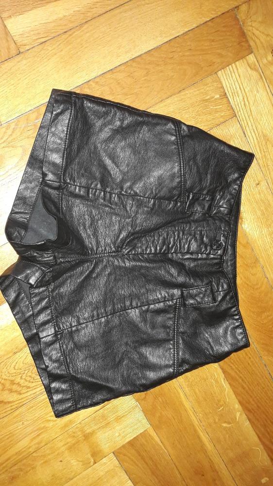 Spodenki Czarne Spodenki szorty skóra H&M wysoki stan xs