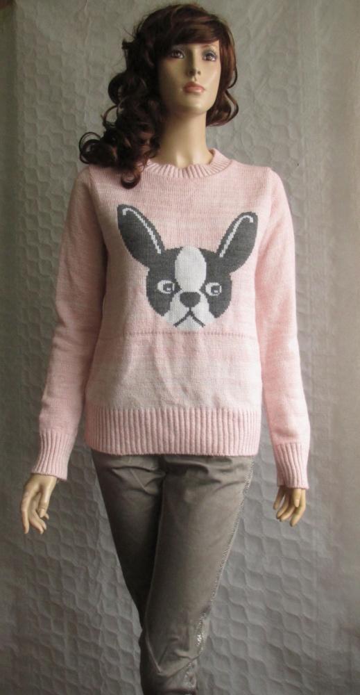 BLONDE BLONDE sweter róż zabawny blogerski hit 40