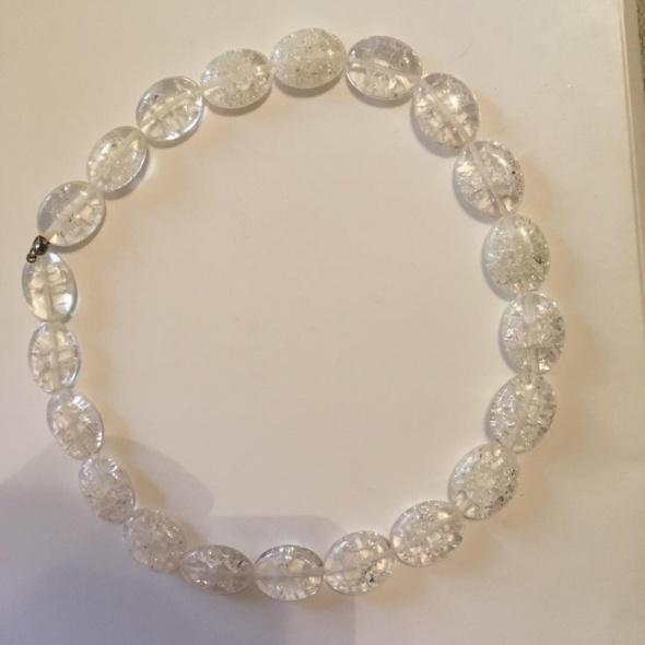 biały naszyjnik szkło weneckie handmade...