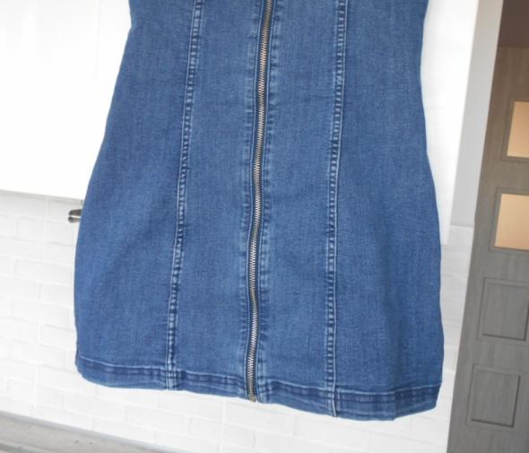 HM nowa sukienka jeansowa jeans zamek zip mini w Suknie i