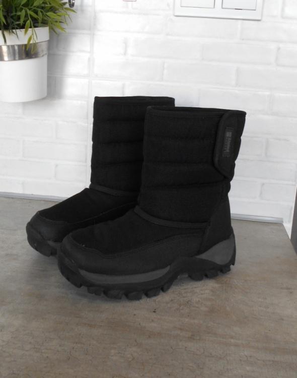 Alpine Design czarne śniegowce zimowe buty