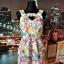 yumi sukienka tęczowa tłoczenia wycięcie kwiaty floral blog 36...