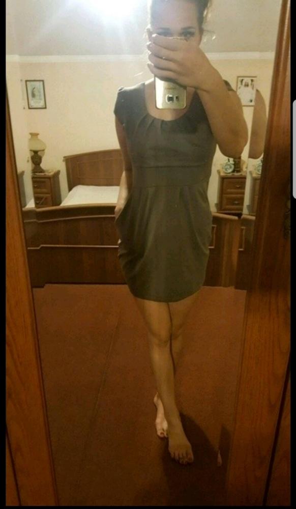 Brązowa sukienka tunika