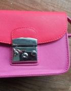 torebka nowa mała różowo czerwona na ramię reserved must have