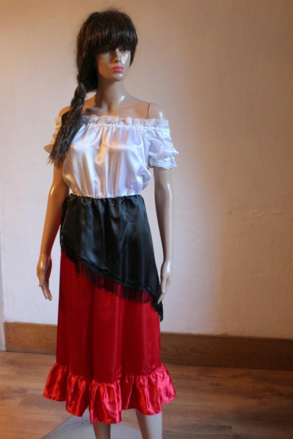 Sukienka kostium przebranie folklor r 140 cm