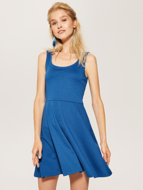 NOWA house klasyczna sukienka odcinana w talii