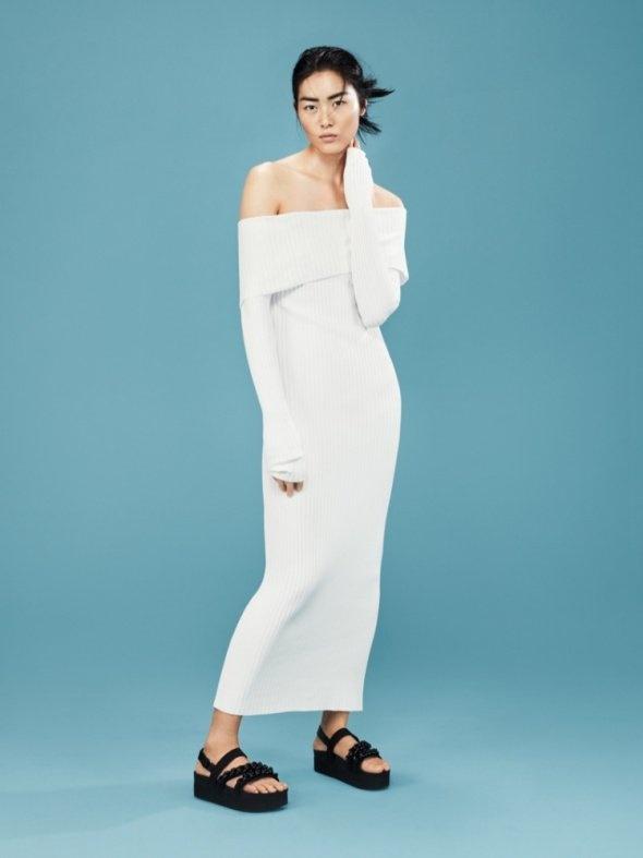 Mango suit sukienka midi maxi biała ecru hiszpanka