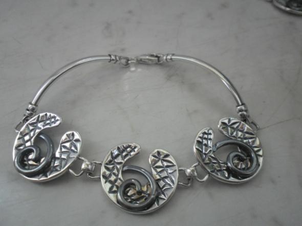 Bardzo ładna srebrna nowa bransoletka część kompletu 15 gr