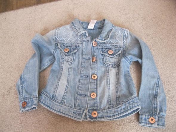kurtka katana jeans TU 98 104 skinny niebieska