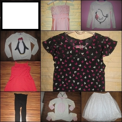 Zestaw paka ubrań dla dziewczynki 11 12 lat 146 152 cm 9 szt