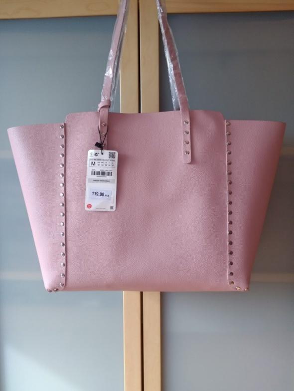 3c0186db6dc77 Torebki na co dzień ZARA 2w1 nowa dwustronna duża torba shopper z ćwiekami  A4