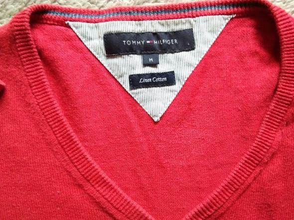 Tommy Hilfiger sweter czerwony M...