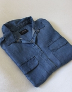 niebieska koszula jeansowa...