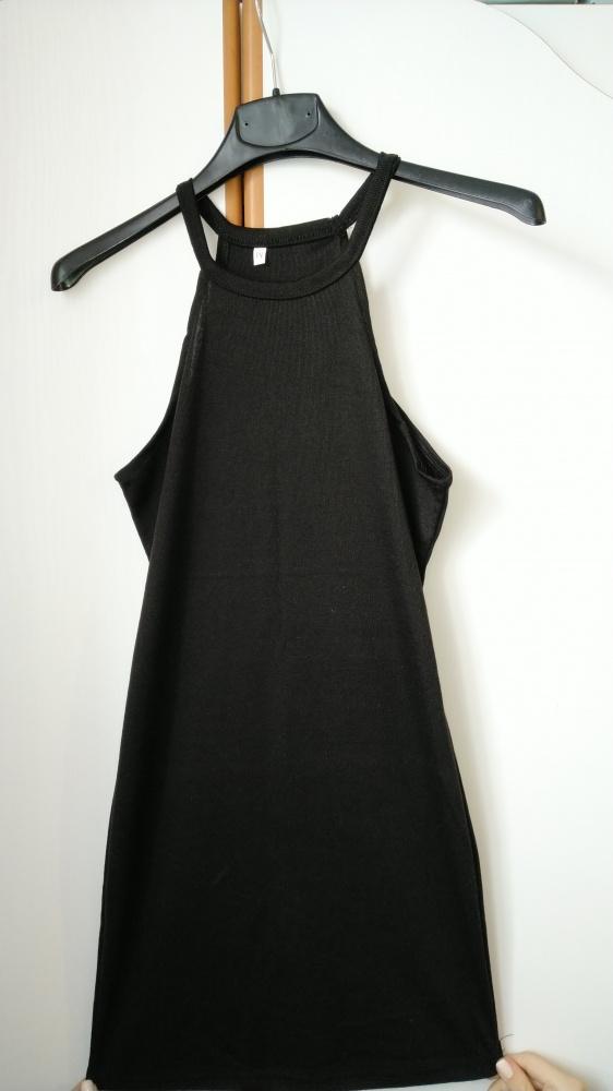 Suknie i sukienki czarna mini na ramiączkach M mała czarna