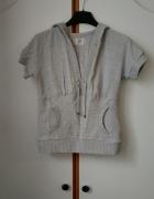 bluza z krótkim rękawem i kapturem by H&M kangurka S...