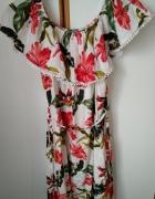 NOWA kolorowa sukienka hiszpanka w kwiaty...