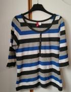 bluzka z długim rękawem w paski by H&M...