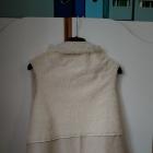 Narzutka kamizelka futerko kurteczka zamszowa dwustronna białe futro