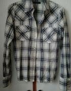 koszula z długim rękawem w kratę na zatrzaski...