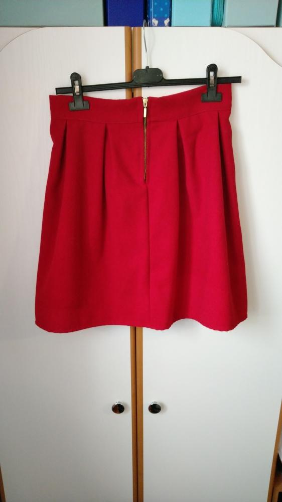 Spódnice czerwona elegancka spódniczka midi przed kolano śliczna