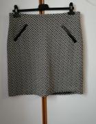 Spódniczka mini w romby elegancka z kieszeniami jak nowa