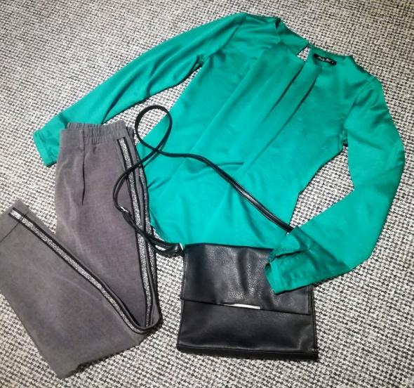 Zielona bluzeczka Pretty Girl S jak H&M Mohito Reserved Bershka...