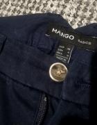 Mango Basics spodnie granatowe