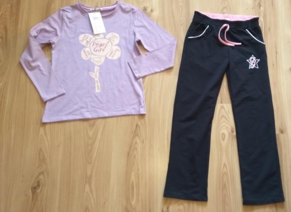 Komplet dresy bluzka z długim rękawem spodnie dres