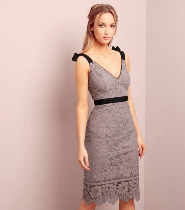 New Look nowa sukienka gipiura koktajlowa pastelowa M...