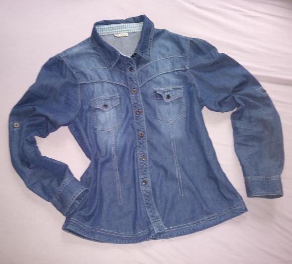 koszula jeansowa 38 M rękawy rollup...