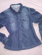 koszula jeansowa 38 M rękawy rollup