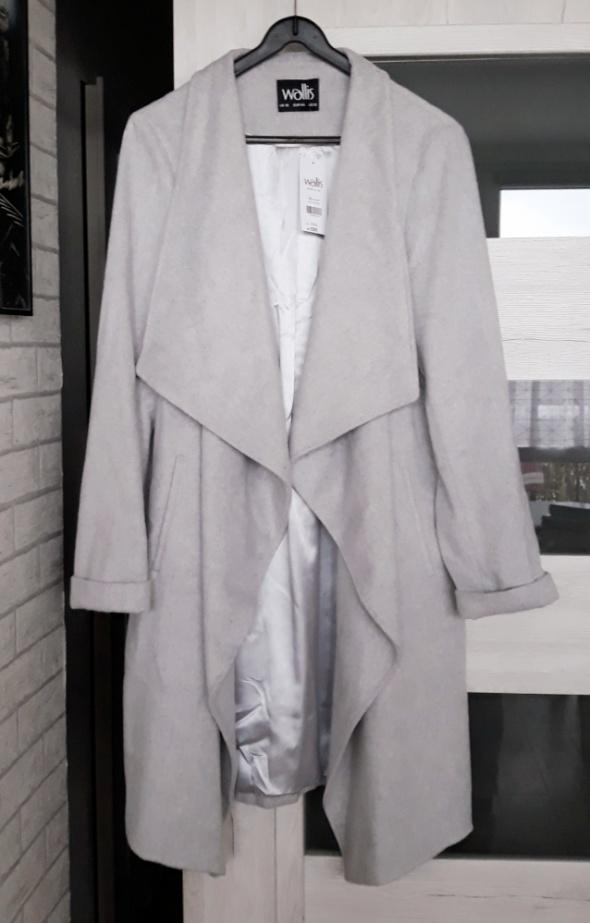 Wallis płaszcz wełniany waterfall klasyczny Grey...