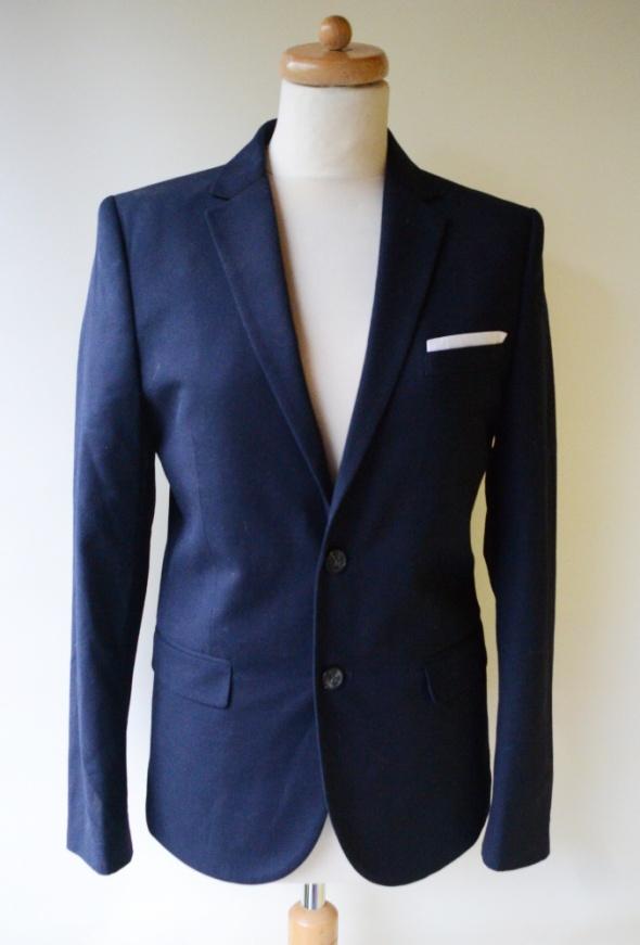 fc2b80e675fb6 Marynarka Granatowa H&M Slim Fit 44 Elegancka Garnitur