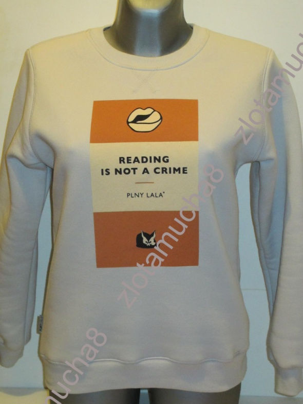 PLNY LALA bluza Reading Is Not A Crime Coconut Sweatshirt...