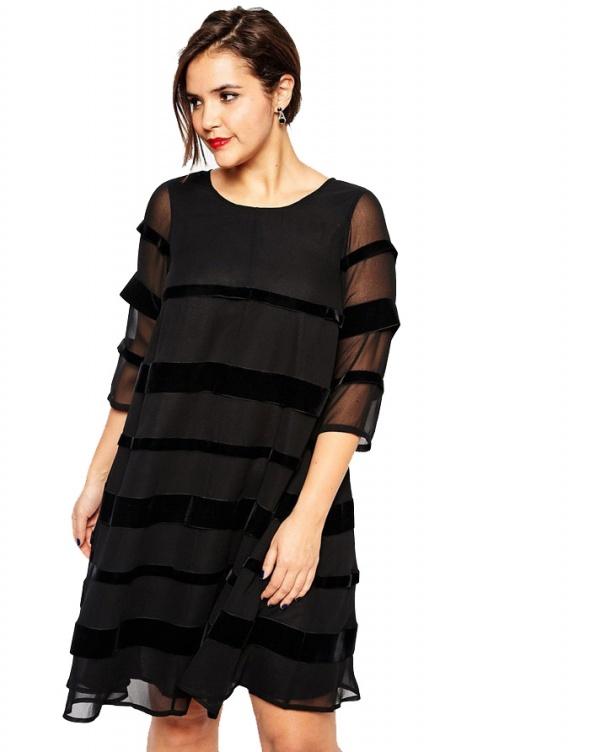 HIT Czarna Luksusowa Sukienka Oversize XXL 44