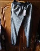 dresowe spodnie ocieplane perelki