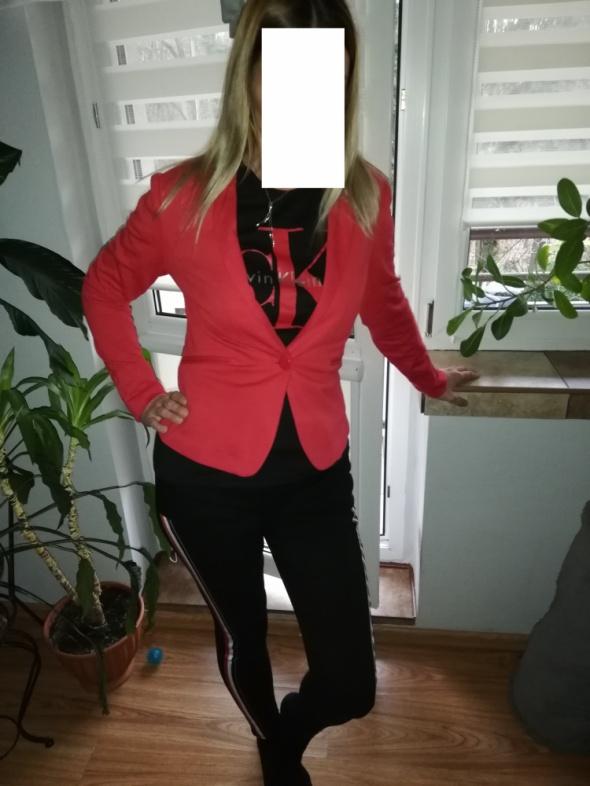 Komplet Marynarka bluzka CK spodnie