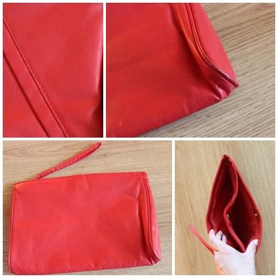 Czerwona kopertóka z przegrutkami