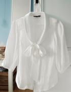 biała bluzka koszula kokardka...